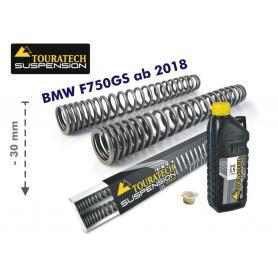 Resortes de horuilla progresivos para BMW F750GS desde el año 2018 ajuste de suspensión inferior en 30mm