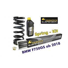 Resortes progresivos de intercambio para horquilla y tubo amortiguador, BMW F750GS desde el año 2018