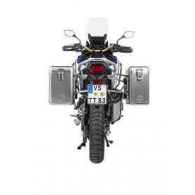 Sistema de maletas de aluminio ZEGA Mundo 31/38 litros con rejilla de acero inoxidable para Honda CRF1100L Adventure Sports