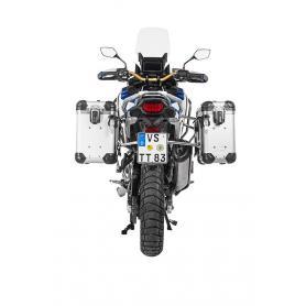 "Sistema de maletas de aluminio ZEGA Evo ""And-S"" / ""And-Black"" con cremallera de acero inoxidable para Honda CRF1100L Adv Sports"