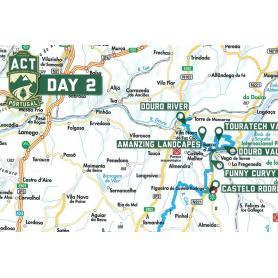 "Mapa de la editorial Touratech ""ACT Portugal"" 1:1100000"