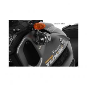 Jeu de phares supplémentaires à DEL antibrouillard/antibrouillard, noir, pour Yamaha XT1200Z Super Tenere, aluminium noir