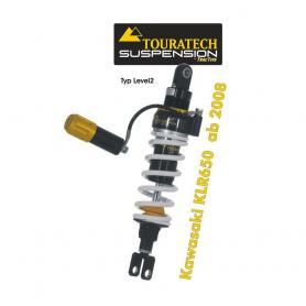 Touratech Suspension ressort-amortisseur pour Kawasaki KLR650 a partir de 2008 de type Level2/ExploreHP