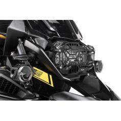 Protection de phare inox noire à attache rapide pour phare  pour BMW R1250GS/ R1250GS Adventure