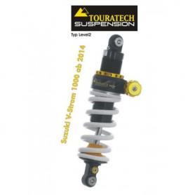 Touratech Suspension ressort-amortisseur pour Suzuki V-Strom 1000 à partir de 2014 de type Level2/ExploreHP