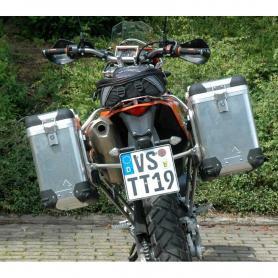 ZEGA Pro sistema de maletas 31/38 litros con soporte acero inoxidable para KTM 690 Enduro / Enduro R