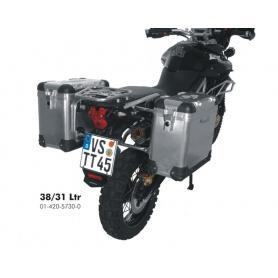 ZEGA Pro sistema de maletas 31/38 litros con soporte acero inoxidable para Triumph Tiger 800/ 800XC/ 800XCx