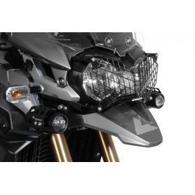 Protección de acero para los faros, en negro, con cierre rápido para Triumph Tiger 800/ 800XC/ 800XCx y Tiger Explorer